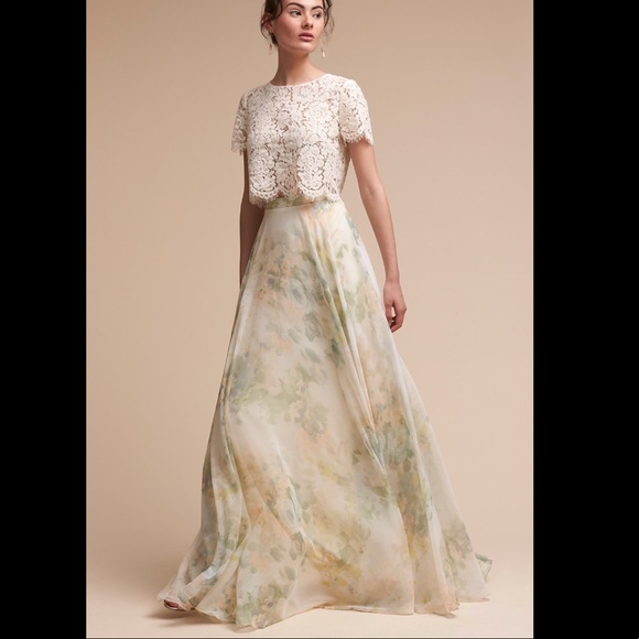 bd377360e4 Jenny Yoo Dresses & Skirts - Jenny Yoo BHLDN 'Hampton' chiffon skirt